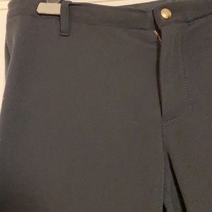 Pink Tartan stretch Riding Pants and leather trim